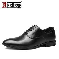 Натуральная кожа Мужская обувь Бизнес дышащий Свадебная обувь Мужчины Остроконечные Комфорт платье Мужской Повседневный Офис Мужчины