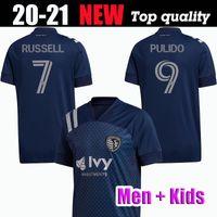 كيت 2020 الرياضية كانساس سيتي لكرة القدم جيرسي # 5 بيسلر # 7 RUSSELL # 9 بوليدو # 8 زوسي SALLOI 20 21 MLS الرجال والأطفال قميص كرة القدم