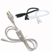 Anahtarı ile Güç Kabloları 1ft 2ft 3ft 4ft 5ft 6ft Uzatma Kablosu T5 T8 Bağlayıcı Kablo Kordon Tel Entegre LED Tüp Işık Için