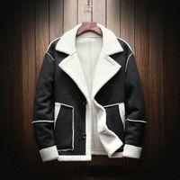2019 Nuevos abrigos y chaquetas de invierno para hombre Chaquetas de gran tamaño para hombres Abrigos cálidos casuales Chaquetas gruesas de invierno Outwear Collar de piel Parkas