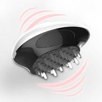 Novos produtos elétrica cabeça da escova de massagem aliviar Ajuda Fatigue Saúde Dormir Silicone Comb Massagem Corporal Saúde Beleza Tools Q0401