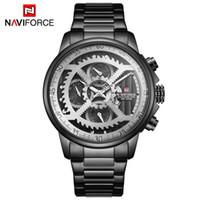 Naviforce Mens Esportes Relógios Homens Top Marca de Luxo Full Steel Quartz Automático Data Clock Masculino Exército Militar Water Water Water