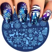 Nail 1pcs Natale Stamping Snow Flower rotonda fai da te manicure stampante lastra di stampaggio per Nail Art