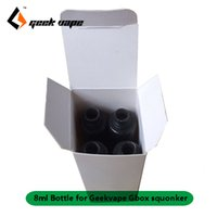 Autentiska 8st / lot Geekvape gbox 8ml ejuice E-flytande reservflaskor för gBox 200W Mod Radar RDA Kit Squonk Replacement Food Great Pet Bottle