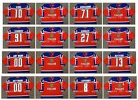 2002 2004 Team Russia Olympic Jerseys 10 PAVEL BURE 71 ILYA KOVALCHUK 91 SERGEI FEDOROV 27 ALEX KOVALEV 13 PAVEL DATSYUK 8 LARIONOV Hockey