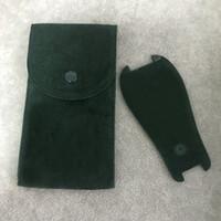الأخضر ووتش واقية الجيب السلس الفانيلا الحقيبة رجل إمرأة الساعات واقية حالة جيوب هدية حقيبة التخزين الأخضر