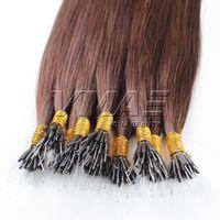 """Brésilien Nano Tip Extensions de cheveux humains Doux Double dessinés 1g / Strand 100g 16 """"à 26"""" 100% Vierge Humain Heppe Top Qualité Cheveux Vmae"""
