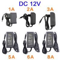 EU امدادات الطاقة الأمريكية ل 12 فولت 1A 2A 3A 5A 6A 8A 10a العالمي محول الطاقة إمداد شاحن محول AC / DC 220V إلى 12V محول