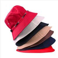 Balıkçı Şapkaları Yaz Açık Kapaklar Unisex Yaz Havzası Şapka Seyahat Plaj Kap Avcılık Spor Kova Şapka Üst Şapka Balıkçılık Güneşlik LT03