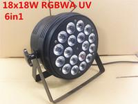 DJ Par Cans RGBWA UV 6IN1 18X18W LED Par Cans Wasserdichte Bewertung IP20 Aluminium Schwarz Gehäuse 90V-240V