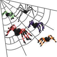 Halloween-Party-Dekoration Schwarze Spinne 30/50/60/75/150 / 200cm Plüsch Bunte Spinne Spukhaus Prop Spinne Ornament DBC VT0701