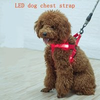 Manufacturers selling pet dog LED chest straps light- emittin...