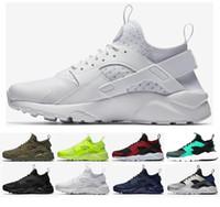 2019 Huarache 1.0 4.0 Koşu Ayakkabıları Erkekler Kadınlar En Kaliteli Şerit Balck Beyaz Oreo Spor Ayakkabı Sneakers Eğitmenler 36-45 BB