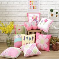 50x50cm 100% Cotton Quilt Grils Princess Bedroom Sofa Pillow...