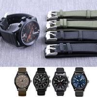 20mm 21mm 22mm Nylon Sport pour IWC Grand Montre Pilote Homme Étanche Bracelet de Montre Bracelet Bracelet Bracelet Noir Vert Homme avec Outils