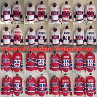 Mes Montreal Canadiens Vintage 4 BELIVEAU 9 RICHARD 10 LAFLEUR 29 DRYDEN 31 PRIX 79 MARKOV 1 PLAMTE 11 KOIVU CCM jersey de hockey