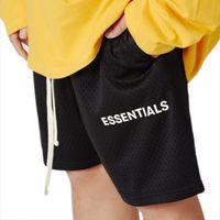 Mens verão malha shorts calças curtas esporte respirável masculino solto moda hip hop casual streetwear