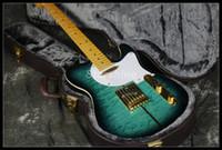 На складе Быстрая доставка TL Tuff собаки электрическая гитара Z-ZC2 стеганый Maple Top2019 синий цвет быстрая доставка