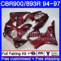 Kit para Honda CBR900RR CBR 893RR 1994 1995 1996 1997 Oscuro rojo Stock Body 260HM.AA CBR 893 CBR900 RR CBR893 RR CBR893RR 94 95 96 97