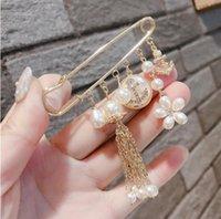 Heißer Verkauf neue Produkte Kamelie Perle Quaste weibliche Corsage Brosche Schal Schal Schnalle weibliches freies Verschiffen