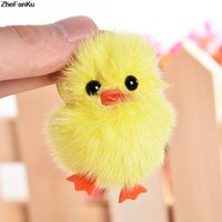 Hot sale new fashion cute yellow fur soft chicken duck keych...