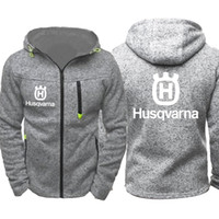 Husqvarna Motorcycle Men Sports Casual Wear Hoodies Zipper F...