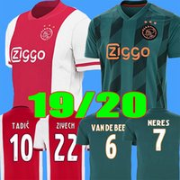 SIZE S- 2XL 2020 AJAX home red away Green NERES mens soccer j...