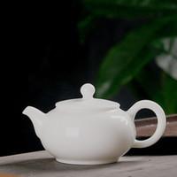 Tetera agujero simple bola de cerámica Kung juego de té fu jade de porcelana blanca olla solo pozo tetera tamaño de la barra teajar