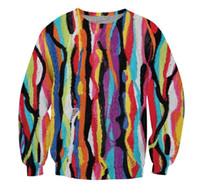 가을 크루 넥 스웨트 힙합 땀 다채로운 패션 의류 여성 남성 캐주얼 점퍼 티셔츠 사이즈 S-5XL 탑
