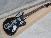 Wholesale custom new jaguar electric guitar black body, jazz...