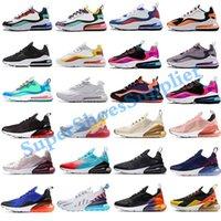 2020 Nike air max 270 React airmax 270 running shoes zapatos corrientes de arco iris CNY talón Trainer Road Star BHM Hierro Mujeres 27C zapatillas de deporte Tamaño 36-45