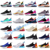 Nike air max 270 React airmax 270 جديد وسادة 270 احذية رياضية مصمم رجالي الاحذية CNY قوس قزح كعب المدرب نجم الطريق BHM الحديد المرأة 27C حذاء رياضة حجم 36-45