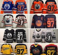 Edmonton Oilers Connor McDavid Jersey 97 Koleji Otters Premier OHL Buz Hokeyi 50. yıldönümü Turuncu Beyaz Mavi Siyah Erkek Kadın Çocuk Gençlik