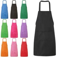 1PC Colorful Cooking Baking Apron Pure Color High Quality Pl...