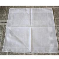 100% coton mouchoir blanc table serviette en satin mouchoir serviette carrée en tricot absorbant la transpiration pour bébé serviette pour bébé adulte ST160