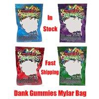 Dank Gummies Mylar Borsa Edibles dettaglio serratura della chiusura lampo Imballaggio Worms 500MG Bears Cubi Gummy per in molti Dry Herb Tabacco Fiore Vape della