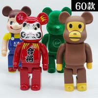 6 stil zoll hale gelir 400% bearbrick ihlal pvc aksiyon figürü toplama model oyuncaklar hediyeler