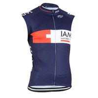 Iam Team Mens Cycling Senza maniche Jersey Gilet MTB Bike Top Road Racing Shirts Sport da esterno Uniforme Estate Estate Bicicletta traspirante Ropa Ciclismo S21050780