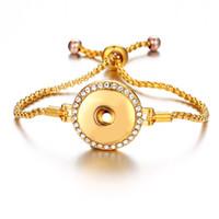 Bottoni a pressione bottoni automatici con bottone a pressione in metallo 18MM Bottoni a pressione fai da te, per gioielli da donna, bracciali a catena regolabili