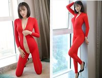 Women Sexy jumpsuit lingerie ultra- thin transparent underwea...