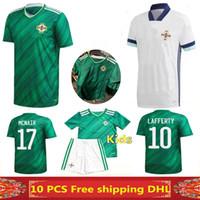 Frete Grátis Mais Novo Tailandês Qualidade 2020 Northern Ireland Futebol Jerseys 2020 2021 Home Away Man + Kids Camisa de Futebol pode ser ordem mista