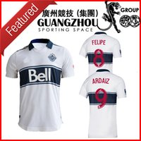 Maillots de football 2019 VANCOUVER WHITECAPS domicile blanc maillots de football maillot TEIBERT 31 19 20 2020
