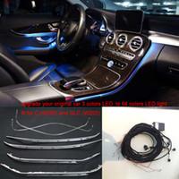 2020 3/64 couleurs LED panneau de porte lumière ambiante lumière de la console centrale de commande pour Mercedes-Benz Classe C W205 GLC (W253) C180 C200