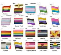 프라이드 배지 양성애자 섹스 브로치 레즈비언 프라이드 핀 플래그 LGBTQ 게이 플래그 옷깃 핀