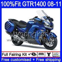 Injectie Mold Lichaam voor Kawasaki GTR1400 08 09 10 11 255HM.1 GTR-1400 08 11 GTR 1400 2009 2009 2010 2011 Verkortingen Glanzende Blue Hot Kit