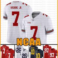 NCAA Ohio State Buckeyes 97 Nick Bosa 7 Dwayne Haskins JR American Football Jersey 10 Tom Brady Sevr