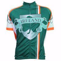 HIRBGOD 2020 Нового лето дышащих мужской одежды Велоспорт Ирландия с коротким рукавом задействуя Джерси Простой Uniform велосипед рубашка, HK414