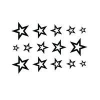 3D Звезда Водонепроницаемый Временные Татуировки Наклейка Тела Мужская Рукава Половина Рукава Временные Наклейки Татуировки Боди-Арт Тату