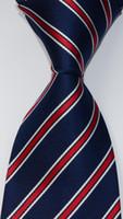 Wedding Stripes laço dos homens 100% de seda vermelho do partido Jacquard gravata azul tecido Fashion Design GZ10