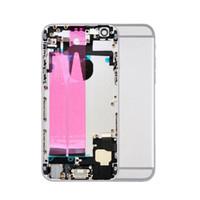 Geri iphone 6 6G 6S Artı metal Orta Çerçeve Şasi için Flex Kablo ile 10pcs Tam Konut Montaj Pil Kapağı Kapı Arka